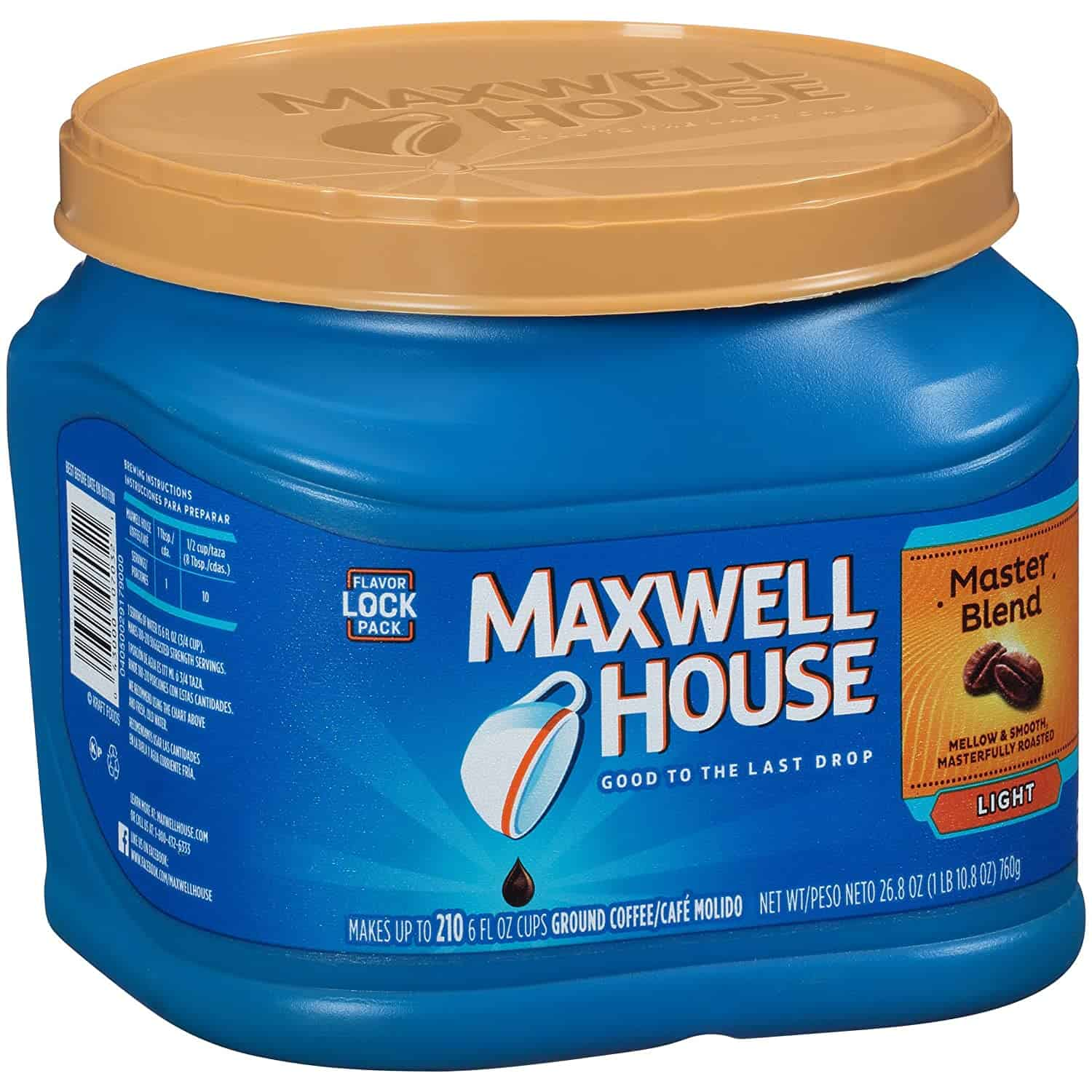 Maxwell House Master Blend light roast