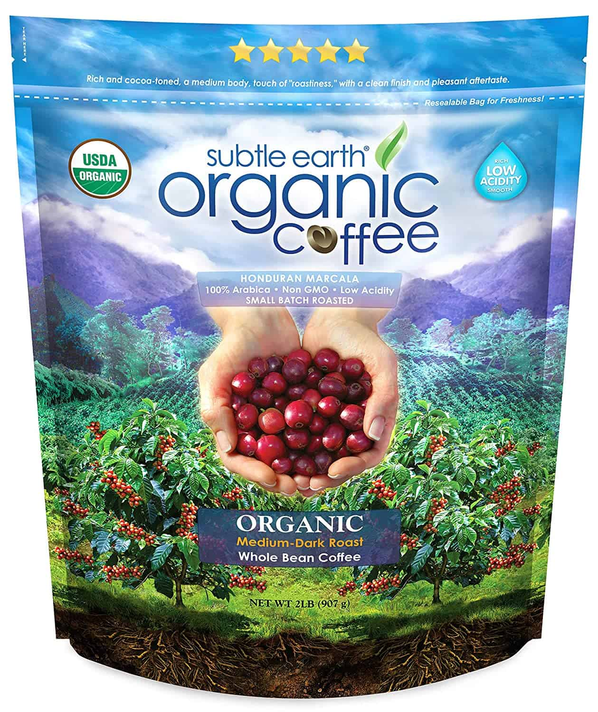 less acidic coffee - Subtle Earth organic coffee