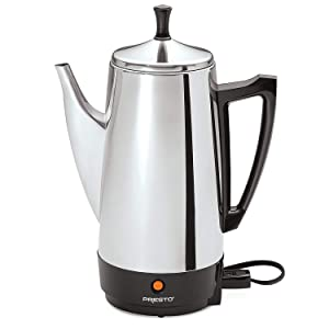Presto 12 cup stainless steel coffee maker