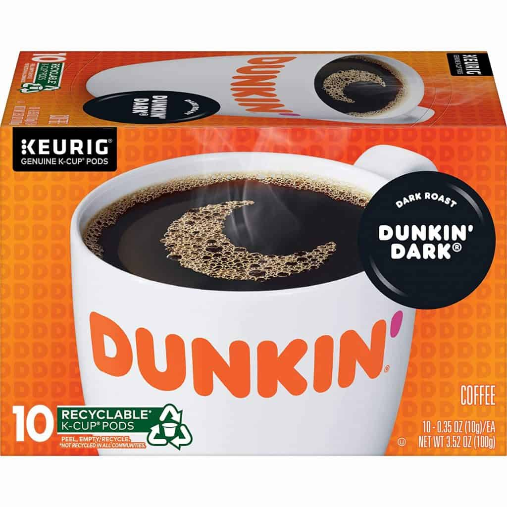 dunkin dark roast coffee pods