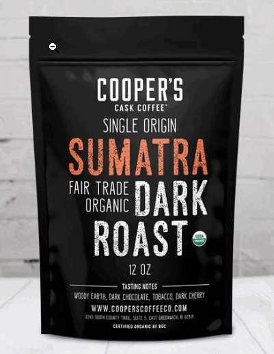 Coopers Sumatra dark roast coffee