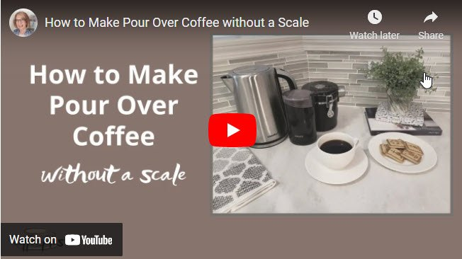 how to make pour over coffee without a scale video