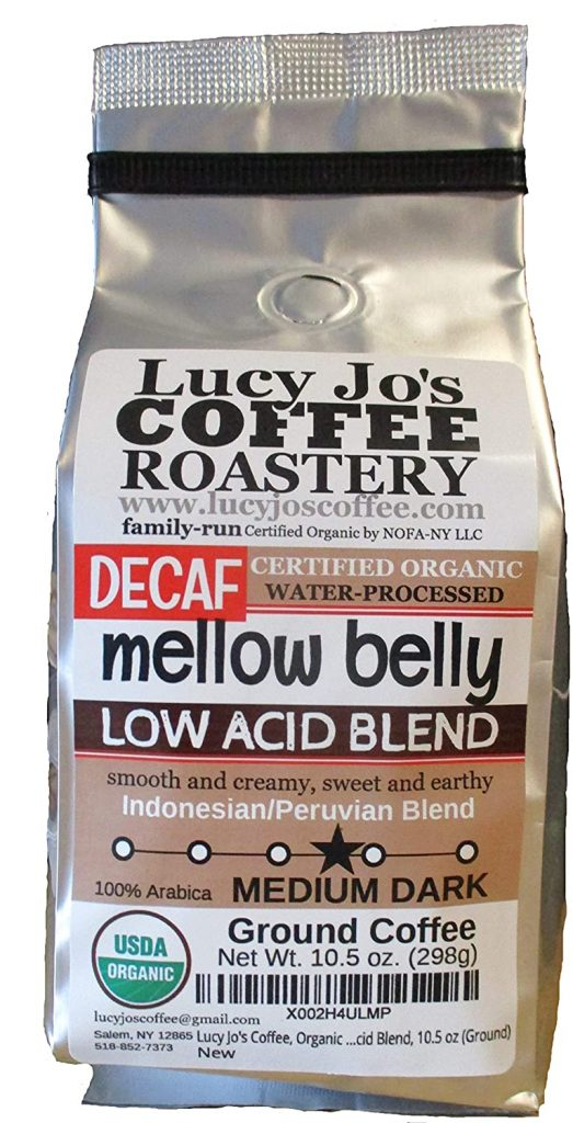 Luce Jo's decaf organic mellow belly coffee