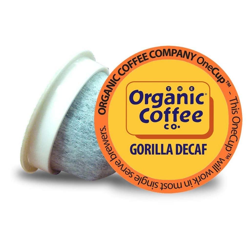 organic decaf coffee pods