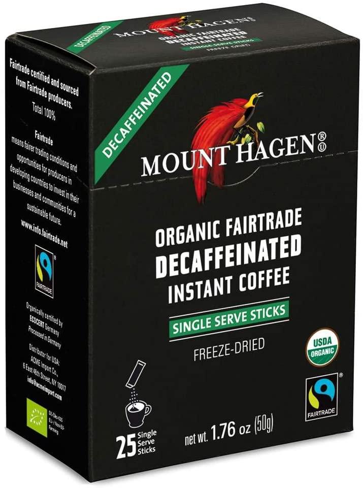 mount hagen organic decaffeinated coffee sticks