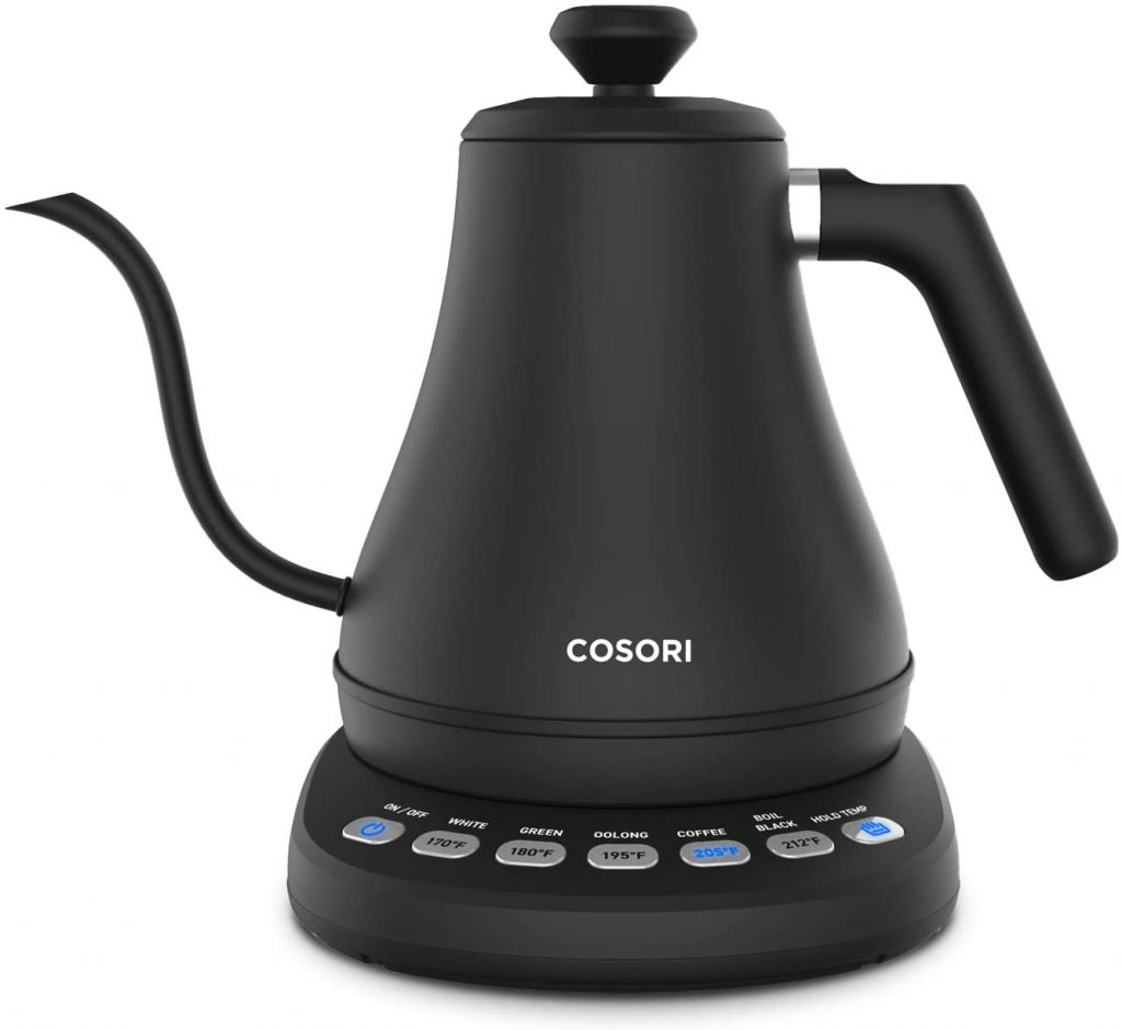 COSORI CO108-NK Electric Gooseneck 0.8L 5 Variable Presets Pour Over Kettle