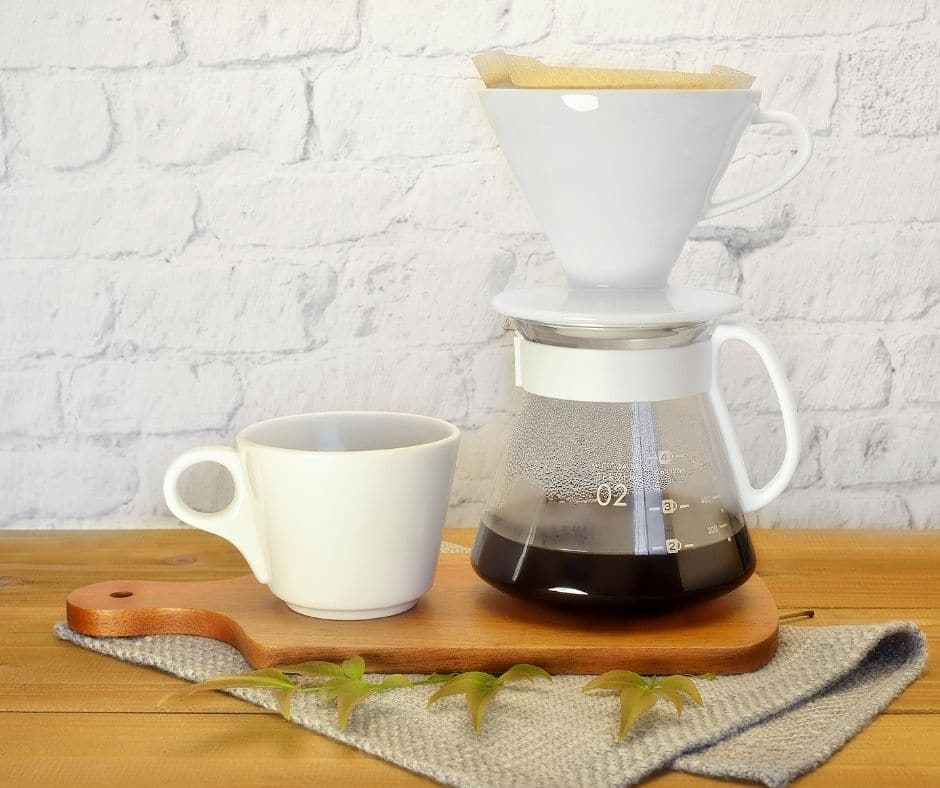 pour over coffee brewing is perfect with light roast coffee
