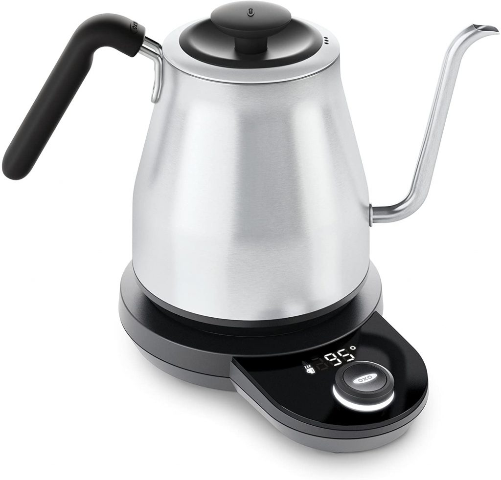OXO BREW Adjustable Temperature Electric Pour-Over Kettle with Gooseneck Spout