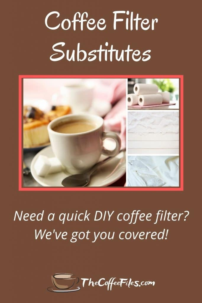 Easy DIY coffee filter substitutes