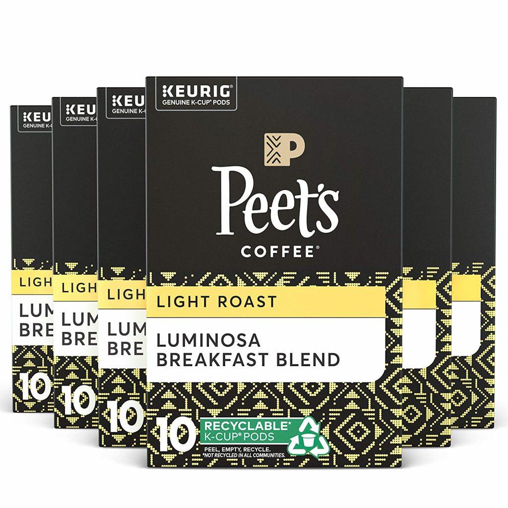 Peets Luminosa Breakfast Blend light roast coffee