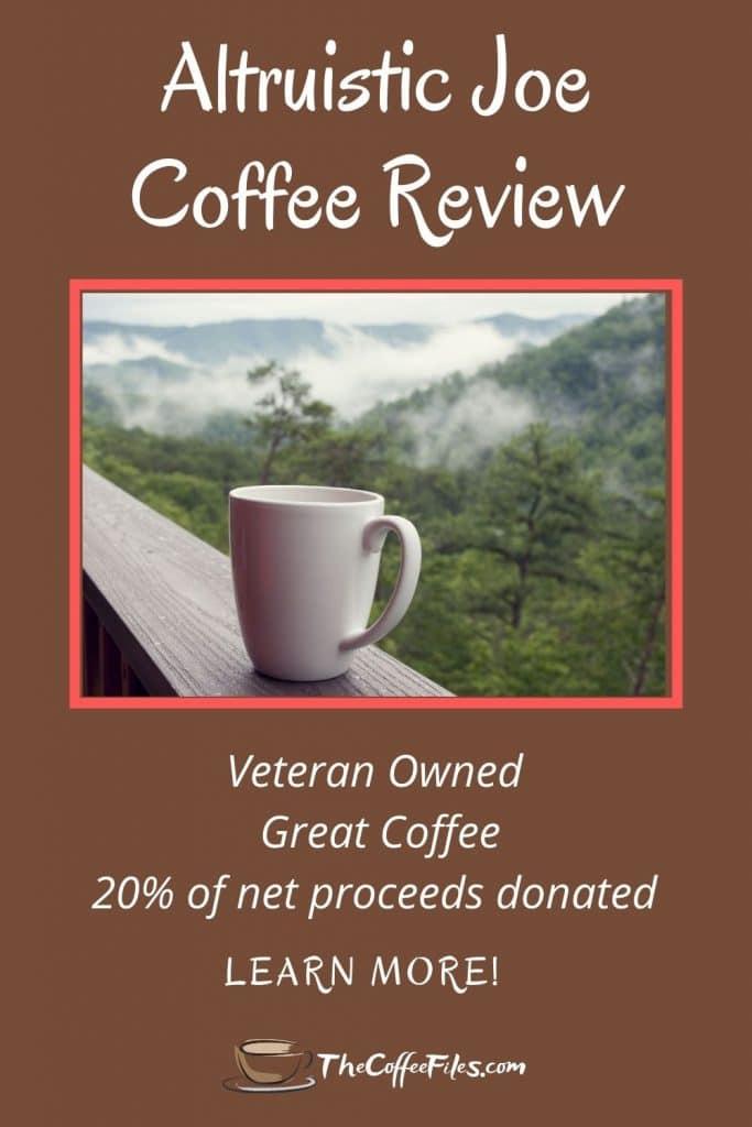 Altruistic Joe coffee is veteran owned